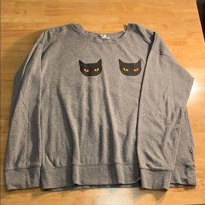 Vans women's cat sweater, XL